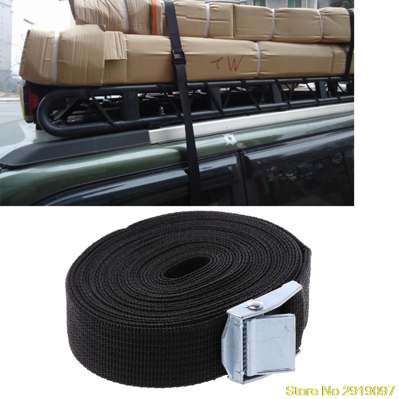 New 1Pc Tie Down Strap Strong Ratchet Belt Luggage Bag Cargo Lashing With Metal Buckle Drop Shipping Support
