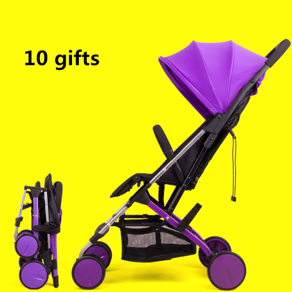2017 Real Baby Carriage 4.9kg Four Colors Sleeping Comfortable Baby Stroller Car Light Folding Two-way Child Umbrella black baby stroller ultra light four wheel boarding folding baby stroller car carriage umbrellababy stroller two way wheeled
