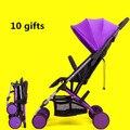 4.9 кг четыре цвета спать комфортно Детская коляска малолитражного автомобиля свет складной двусторонний детская коляска автомобиль зонтик ребенка коляска
