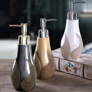 Image 2 - 1PC Creative Resin Soap Bottle Hotel Home Shampoo Dispenser Press Hand Sanitizer Bottle Soap Dispenser Set