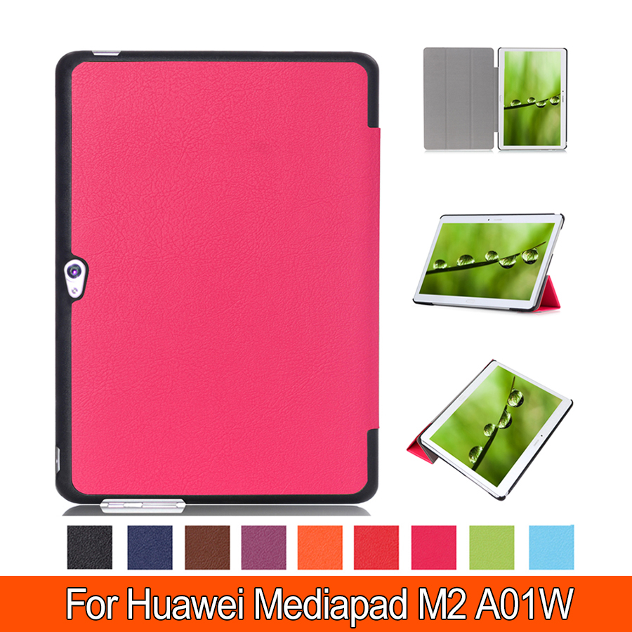 Luxury Media Pad M2 10.0 Stand Leather Case For Huawei M2 10.0 inch A01W/L Flip Tablet Cover Case fast shipping new case for huawei media pad m2 lite ple 703l 7 cover pu leather flip folding case shell tablet pc cases stylus free shipping