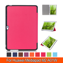 Роскошные Media Pad M2 10.0 Stand Leather Case For Huawei M2 10.0 дюйма A01W/L Флип Tablet Cover Case быстрая доставка