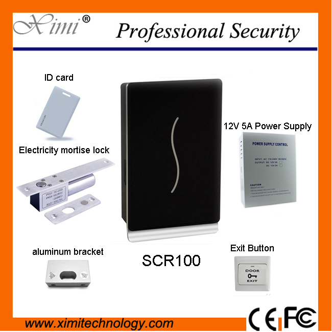 SCR100125KHZ FRID card smart card access control system with 12V5A power supply ,electri ...