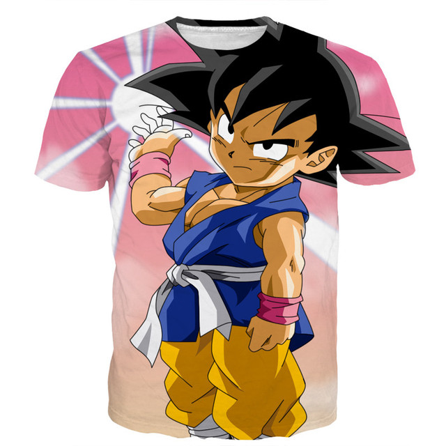 SOSHIRL Newest Anime Dragon Ball Z Kid Goku T Shirts Tees Men Women Galaxy 3D T Shirt Hipster tshirts Harajuku Tee Shirt Tops