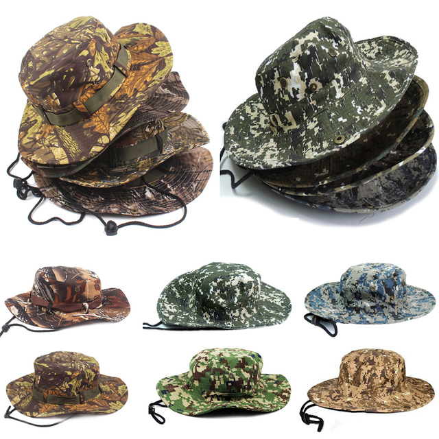 Aliexpress.com : Buy Mens Camouflage Camo Army Combat Bush Hat ...