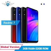 Küresel Sürüm Xiaomi Redmi 7 3 GB 32 GB Cep Telefonu 6.26 ''Snapdragon 632 Çift Kamera 12MP + 2MP ön Kamera 4000 mAh