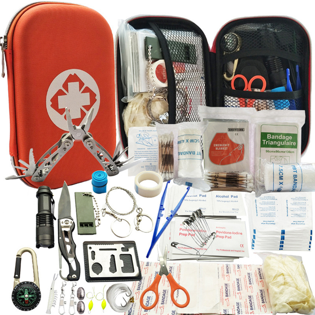 29 in 1 Outdoor survival kit Set Camping Travel Multifunction First aid SOS EDC Emergency Supplies Tactical for Hunting tool