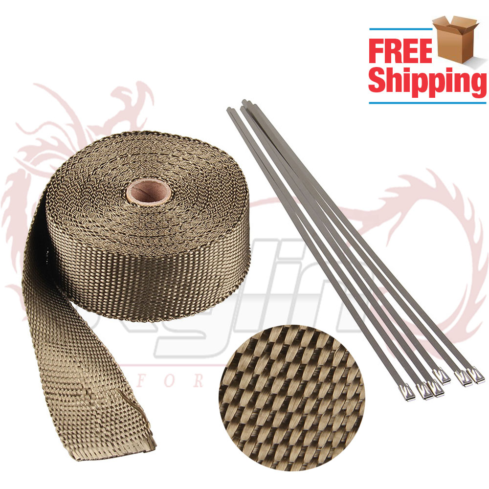 "Free Shipping 2"" *10meter Thermal Wrap Exhaust Insulating"