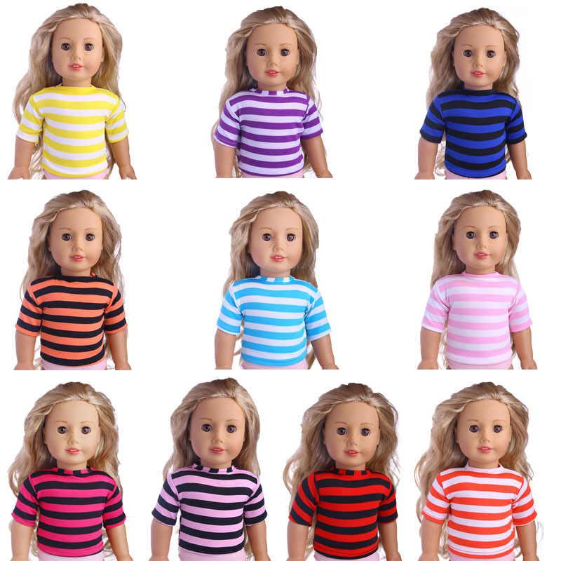 หลากหลายสีทึบลายเสื้อยืดสวมใส่ 18 นิ้ว, 43 เซนติเมตร, เด็กที่ดีที่สุดของขวัญ