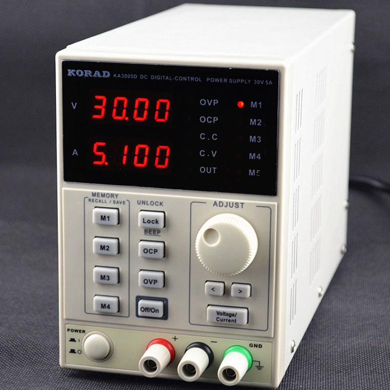 free shipping KA3005D high precision Adjustable Digital DC Power Supply 4Ps mA 30V/5A for scientific research service Laboratory