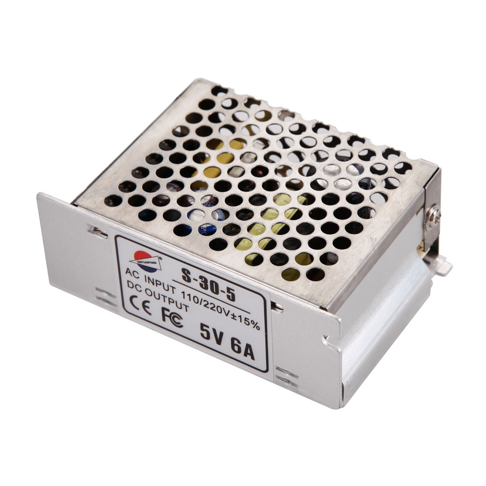 5V 6A 30W switching power supply for ws2801 / ws2812b /2812b / lpd8806 / apa102 led strip universal regulated AC 110-220V cenmax vigilant v 6 a
