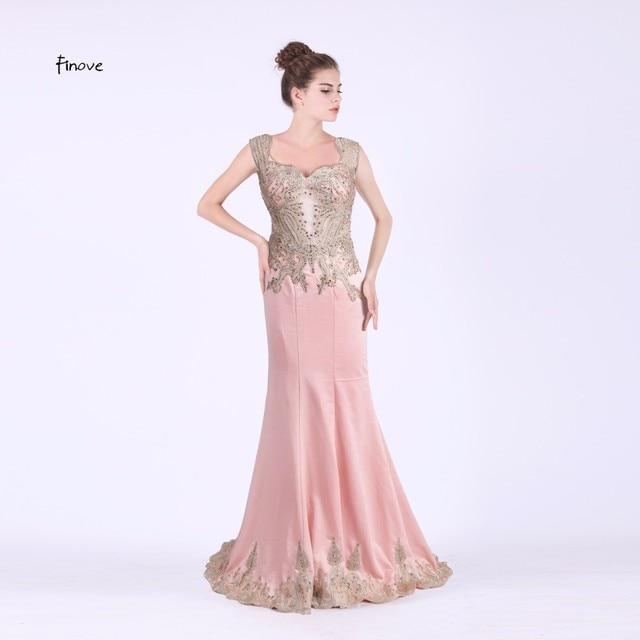 e0a4af840 Finove 2017 sirena vestido de noche largo longitud del piso del amor  vestidos de baile opacidad