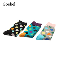Goebel Male Winter Popular Socks Creative Fashion Man Tube Socks Dot Pattern College Wind Men Cotton
