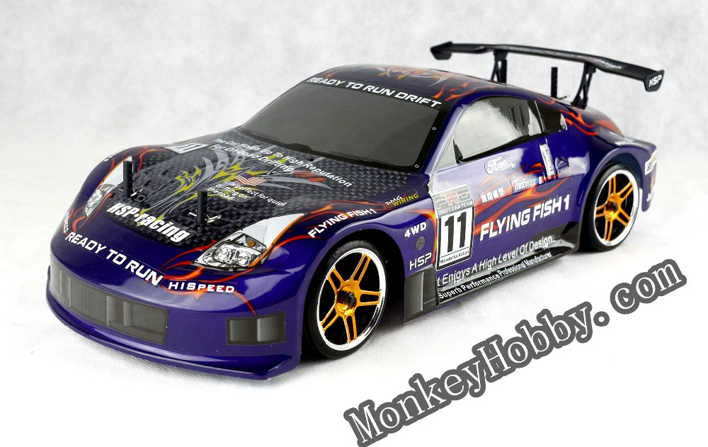 Hsp 94123 Purple 4wd 2 4ghz Flying Fish Rc Electric Drift