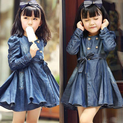 2015 Trend Children Clothes Child Clothing Kids Denim Coat