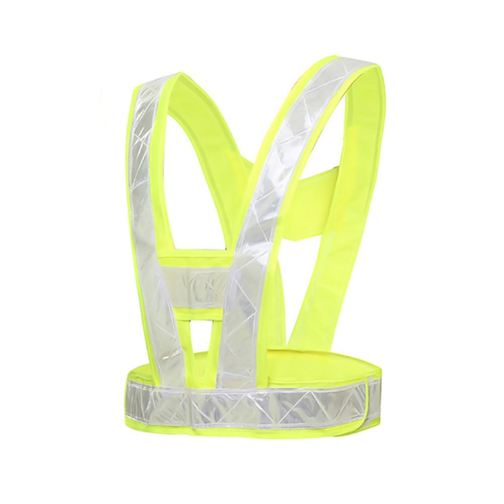 1pc V-Shaped Reflective Safety Vest Traffic Safety Clothing High Visibility Light-Reflecting Vests Cycling Vest