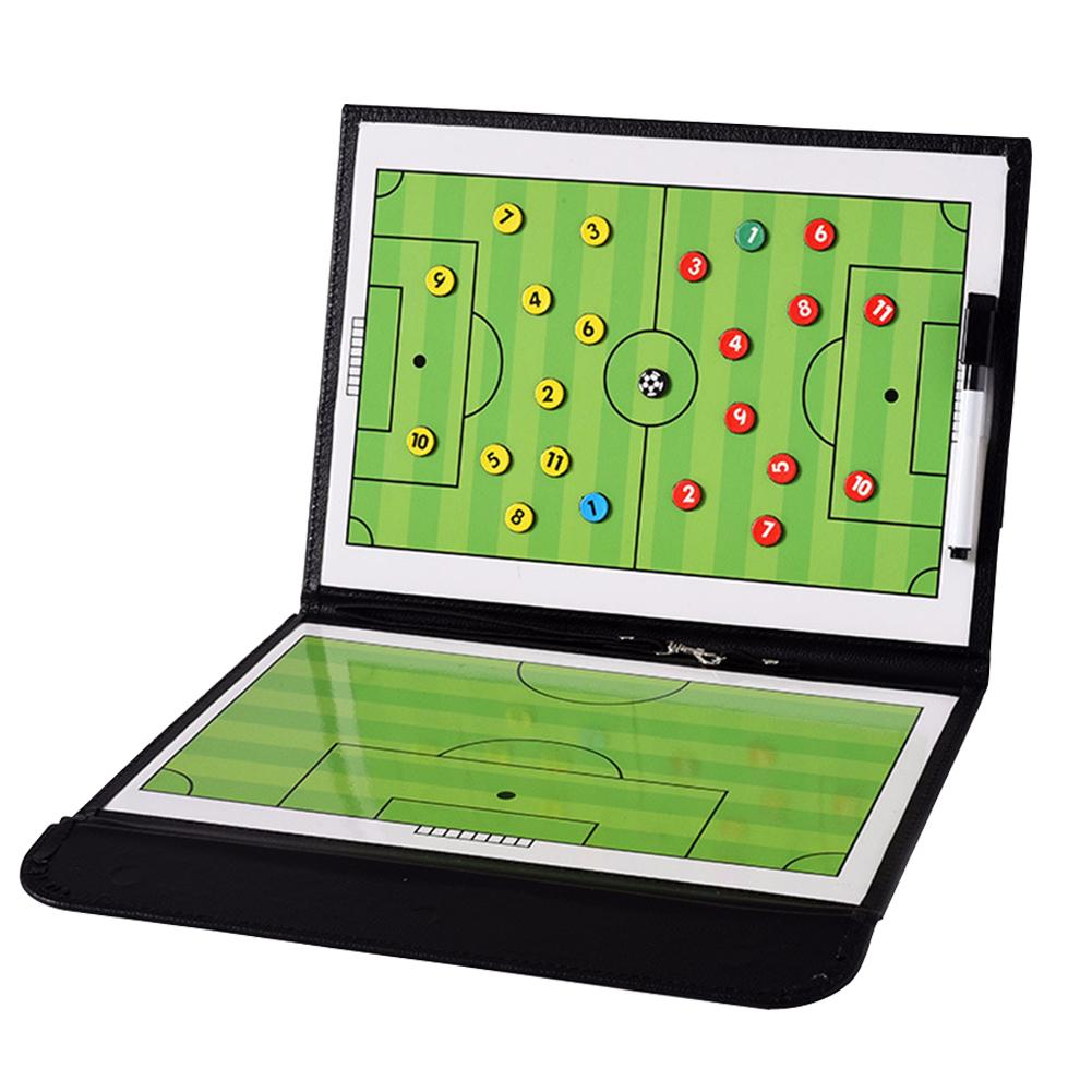 Football Tactic Board Coach Teaching Strategy Color Folding Exercise Command Board Tactic