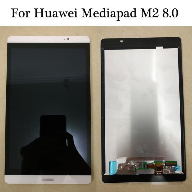 高品質ホワイト/ゴールド用huawei mediapad m2 8.0 M2-801L M2-802L M2-803Lフル液晶ディスプレイ+タッチスクリーンデジタイザアセンブリ