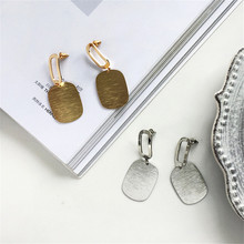 Geometric Disc Earrings creative metal eardrop fashion earrings silver earrings Fine jewellery wholesale earrings flat disc mismatched earrings