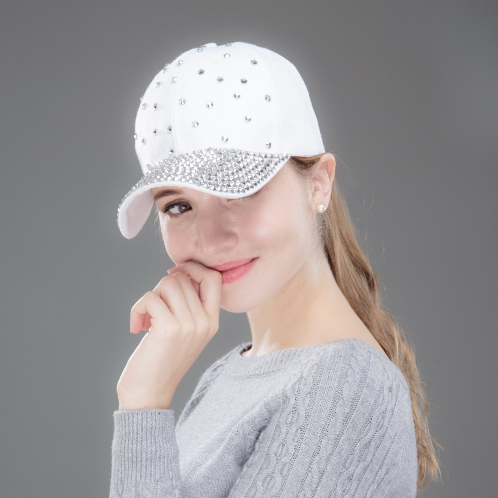 women   cap   new fashion   baseball     cap   hats handmade rhinestone beads luxury   caps   woman girl casual   caps   bone gorras casquette