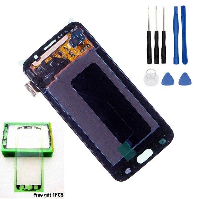 Écrans LCD Super AMOLED pour Samsung GALAXY S6 G920 G920F LCD écran tactile numériseur assemblée + outils + bande