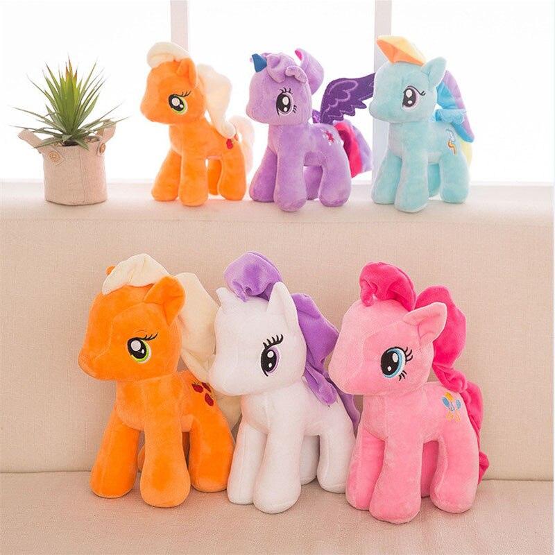 Plush Animal Unicorn Horse Stuffed Animals Toys Baby Infant Girls Toys Birthday Gift Rainbow licorne1