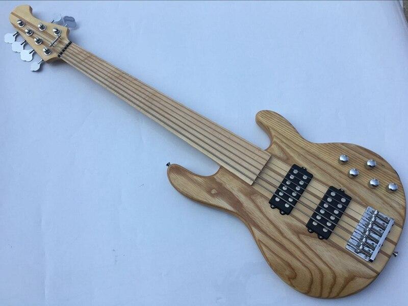 Bonne qualité 6 cordes fretless basse guitare livraison gratuite