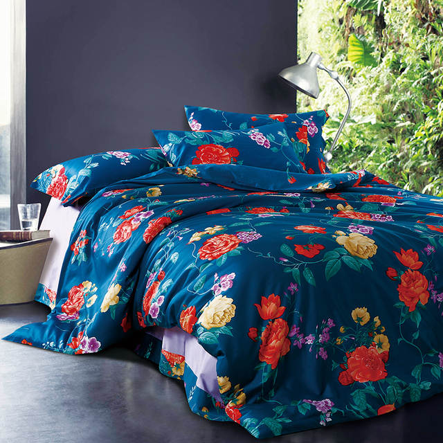 american piece pastoral cover floral cotton luxury sets duvet style products