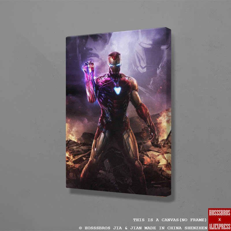 Iron Man endgame poster Marvel Painting Wall Art Canvas For kids Teens Living Room Home Bedroom Study Dorm room Art Decor Prints