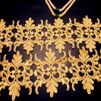 Lace The Baroque Lace Unilateral Buiter Gold Lace trim Embroidery Lace