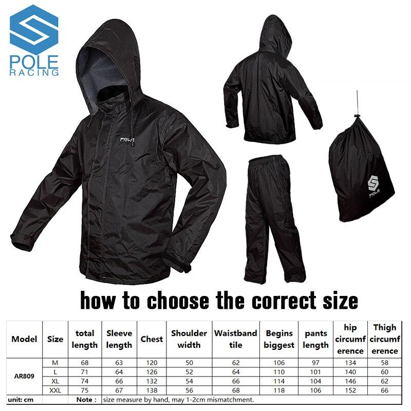 Бесплатная доставка мотоцикл дождь пальто комбинации, сыроустойчивых Pole Micro доказательство воды raincoats/ar809/черный