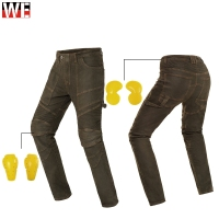 GHOST RACING Motorcycle Pants Motocross Riding Pantalones Protective Jean Moto Men Motorbike Trousers Protector Armor