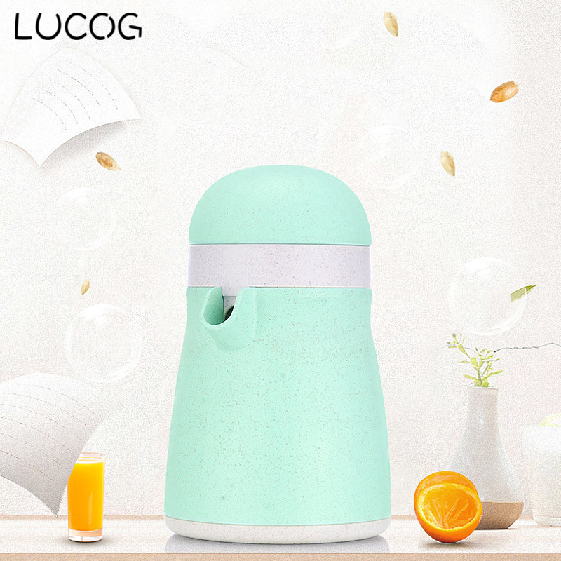 LUCOG Wheat Straw Material Manual Citrus Juicer Mini Citrus Squeezer Lid Lemon Juicer Manual Press Cup Limes Hand Masher