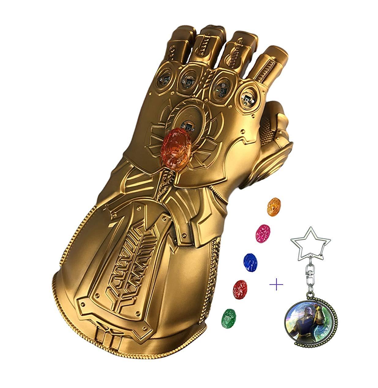 Yacn Infinity gantelet Thanos gant PVC LED avec 6 LED pierres infinies magnétiques armes et armure cosplay accessoires