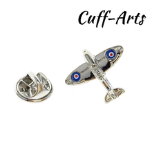 Cuffarts Pilot Brooch Fashion Mini Airplane Cartoon Spitfire Aeroplane Lapel Pin Handsome Metal Brass Brooches P10119