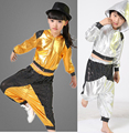 children girl boy performance Hip hop HIPHOP Jazz modern Ballroom break dance suit costume hooded sequined costumes Pants