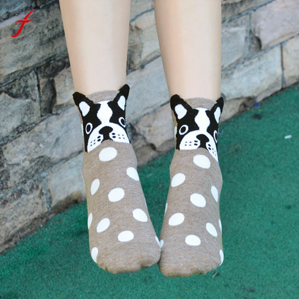 Animals Cartoon Socks Women Cat Footprints Cotton Socks Floor cute socks for dogs Casual Meias Fashion Comfortable Sock 2018 ...