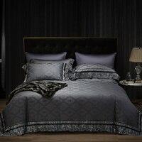 Luxury 600TC Egypt Cotton Delicate Lace Bedding Set Jacquard Duvet Cover Sets Bed Sheet Pillowcases Queen King Size 4pcs
