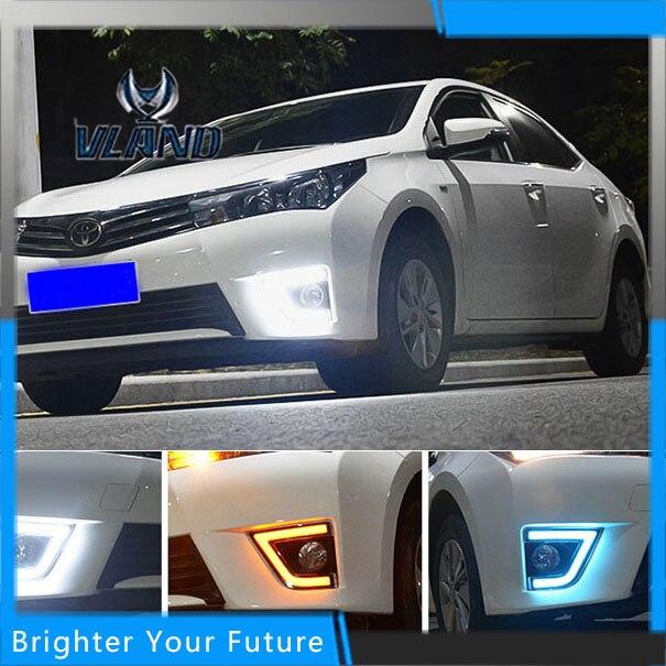 VLAN LED Daylight For Toyota Corolla 2014-2015 White LED Daytime Running Lights DRL Front Fog Lamp