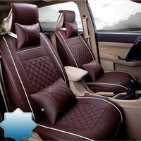 Auto Car Seat Cover full sets Universal Fit 5 seat SUV sedans front/back seat mats automotive interior imitation leather