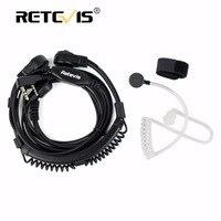 C037 2 Pin Telescopic Throat Covert Acoustic Tube Earpiece For TYT BAOFENG UV5R 888S FOR KENWOOD