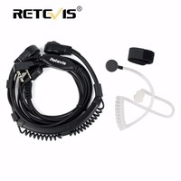 C037 2 Pin Telescopic Throat Covert Acoustic Tube Earpiece For TYT BAOFENG UV5R 888S FOR KENWOOD