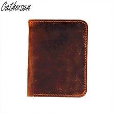 Handgemachte qualität hauptschichtrindleder kurzen absatz wallet crazy horse leder brieftasche mann handtasche stil, die alte weisen