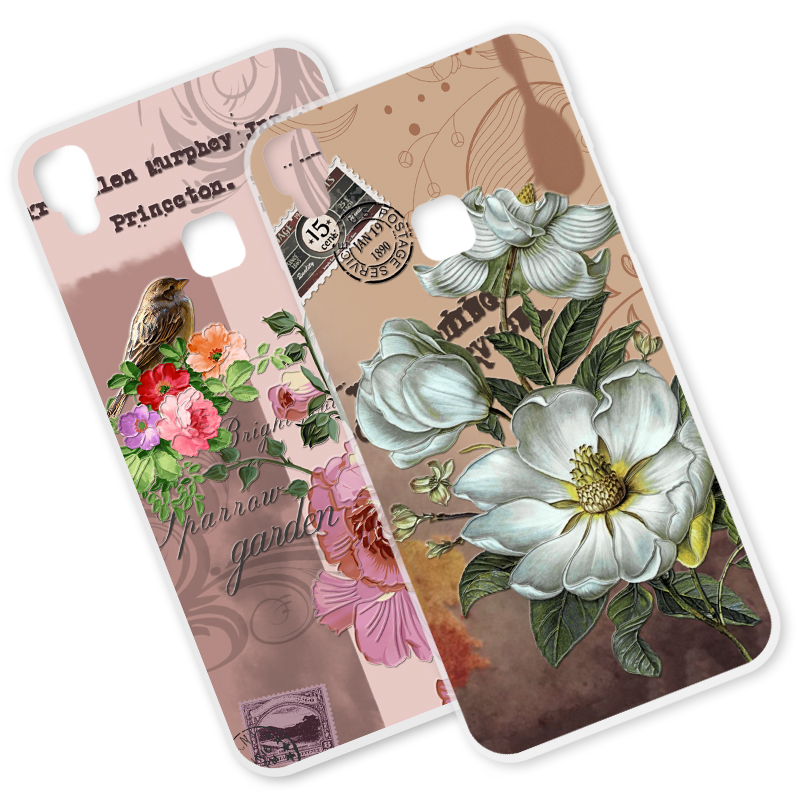 ShuiCaoRen Soft Silicone Phone <font><b>Case</b></font> For BBK <font><b>Vivo</b></font> V3 max <font><b>V3max</b></font> A Relief Flowers Shockproof Cover For <font><b>Vivo</b></font> V3 V3L Phone <font><b>Cases</b></font> image