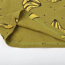 Banana Fruit Printed Siblings Matching Baby Girl's T-Shirt