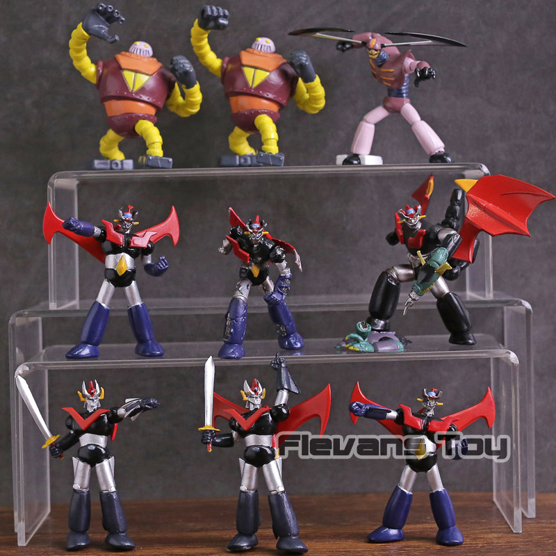 Anime Cartoon Mazinger Z Mini PVC Action Figures Collectible Model Toys 10pcs/set sonny angel mini anime cosplay 25pcs set pvc action figures collectible model toys dolls kids gifts boxed holiday gifts
