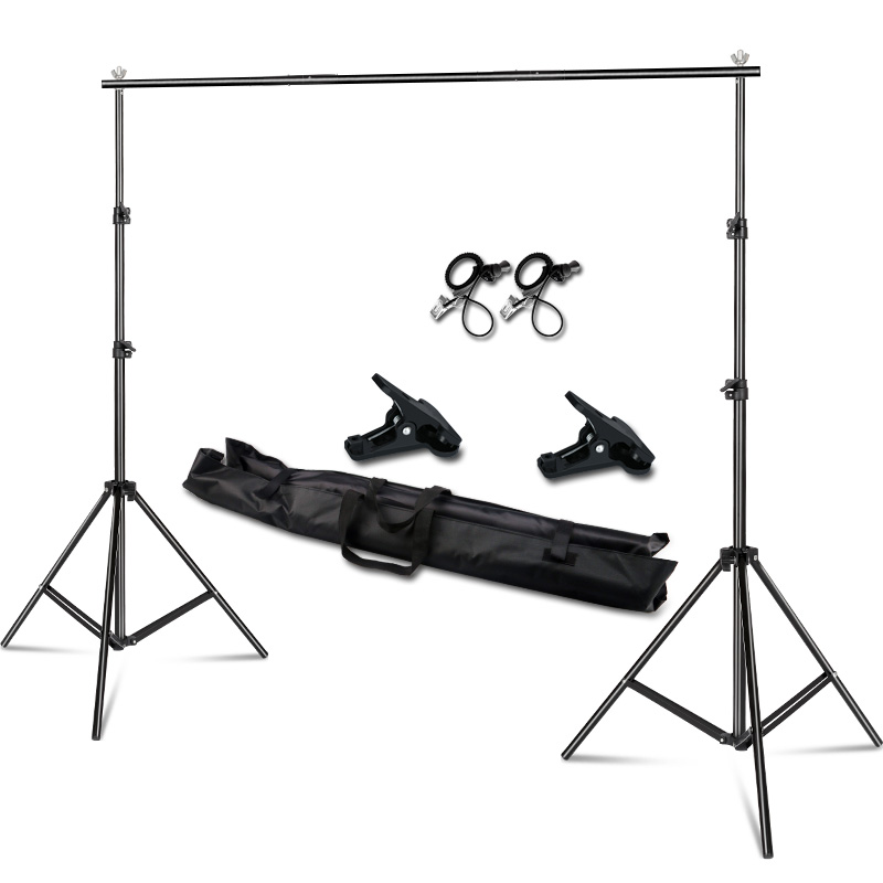 2x3 M/6.5x10ft Support de fond de Studio Photo vidéo, système de Support de fond télescopique réglable avec sac de transport