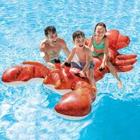 Family Water Entertainment Giant Lobster Floating Row Swimming Ring Oversized Floating Bed Inflatable Toy for Parents Children