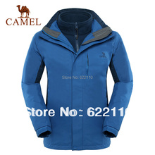New arrival 2013 camel outdoor watertight jacket twinset ;thermal three-in-one windpbreaker ;in stock,hiking,camping 3f80001