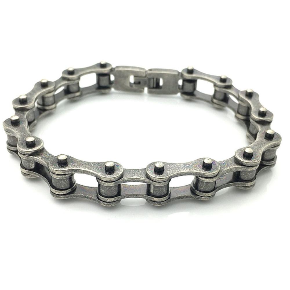 New Fashion Stainless Steel Cycling Bracelets For Men Riding Motorcycle Bike Punk Bracelet BR062901 cool square stainless steel bracelets men new arrival punk rock mens bracelets